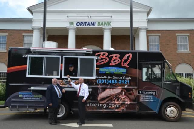 The North Jersey Friendship House food truck visited Oritani Bank to serve food to all employees and the Board of Directors in an act of gratitude.