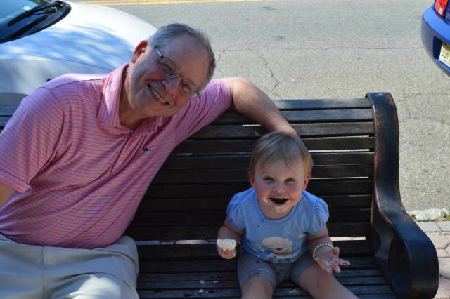 Paul Dasher took his granddaughter, Joan, out for ice cream in Glen Rock