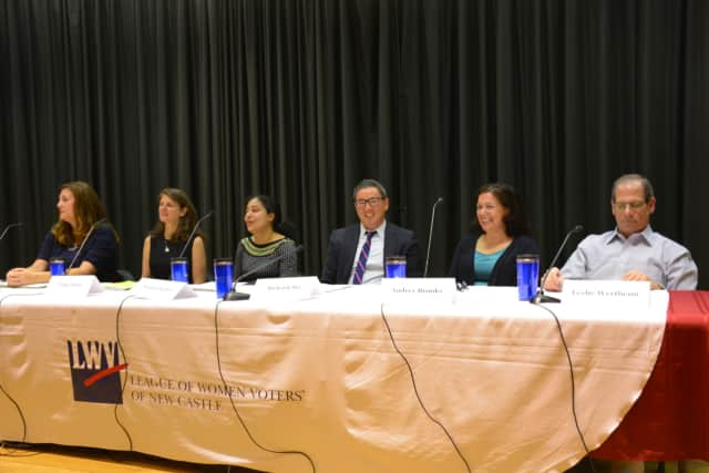 Chappaqua Library Board candidates at a recent forum.
