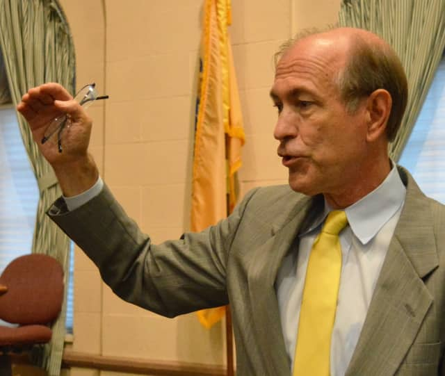 U.S. Rep. Scott Garrett asking a question of CSX Transportation representatives.