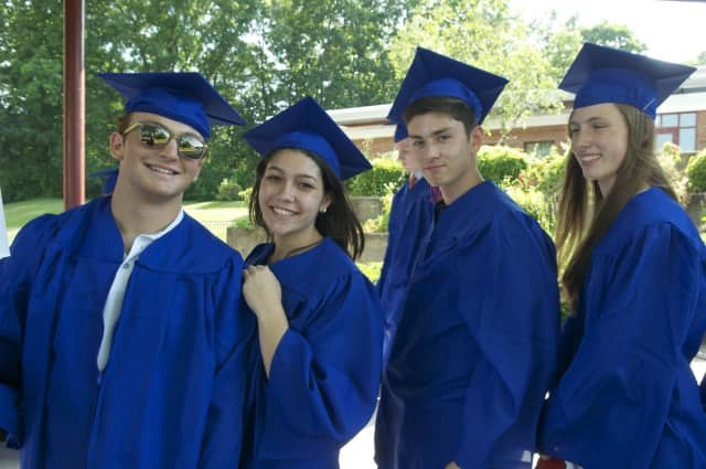 Horace Greeley High School celebrated the Class of 2016 Sunday afternoon with a commencement ceremony under a huge tent at the school's Chappaqua campus.