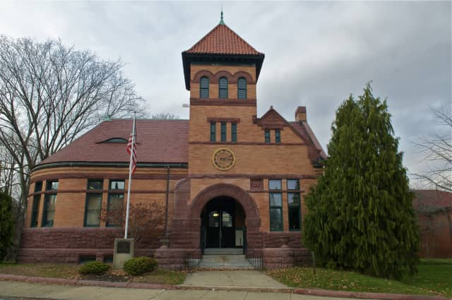 """Shelton's Plumb Library. """"Repeat Reads--a Book Club for Adults"""" will take place at the Plumb Memorial Library in Shelton."""