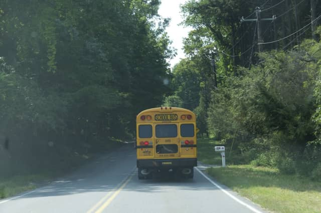 A school bus was involved in a minor accident in the Town of Mamaroneck on Wednesday morning. None of the nine children on board, including students from the French American School of New York, were hurt, according to town police.