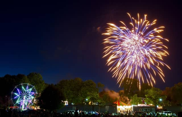 Friday night's fireworks display capped a night at the Ridgefield Volunteer Fire Department's annual carnival. Rainy weather could dampen some of the fireworks planned at the start of the 4th of July holiday.