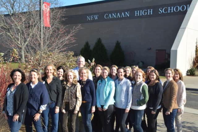The New Canaan High School Scholarship Committee 2017-18 and William Egan, Principal, New Canaan High School and Chairman, New Canaan Scholarship Foundation