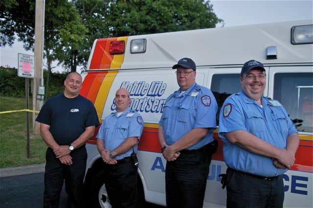 From L: Peter Schinella, Brian Wieczolek, Eric Calderon, Matt Hall of Mobile Life Support Services, Inc.