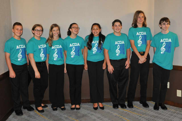 Eight Blue Mountain Middle School students sang in a choir composed of students from across the state.