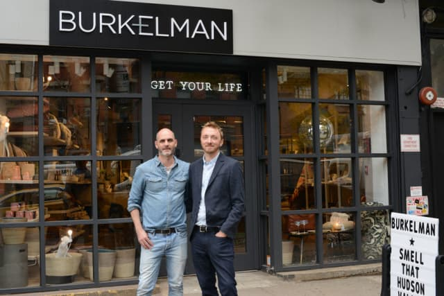 Kevin Burke, left, and David Kimelman have opened a second Burkelman. The home goods shop in Manhattan joins the original in Cold Spring. Photographs by Bob Rozycki.