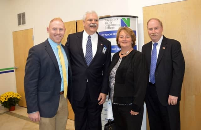 State Reps. Stephen Harding (R-107) and Jan Giegler (R-138) with State Sen. Michael McLachlan and Jim Maloney.