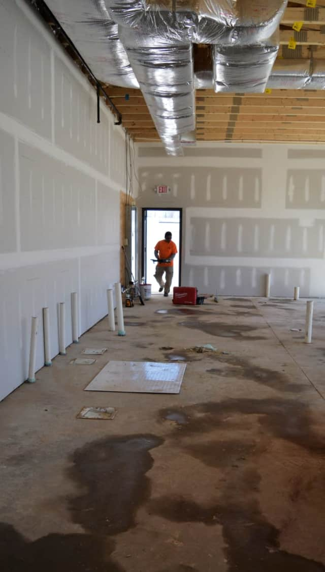 Inside the Starbucks under construction on Kinderkamack Road in Emerson Wednesday.