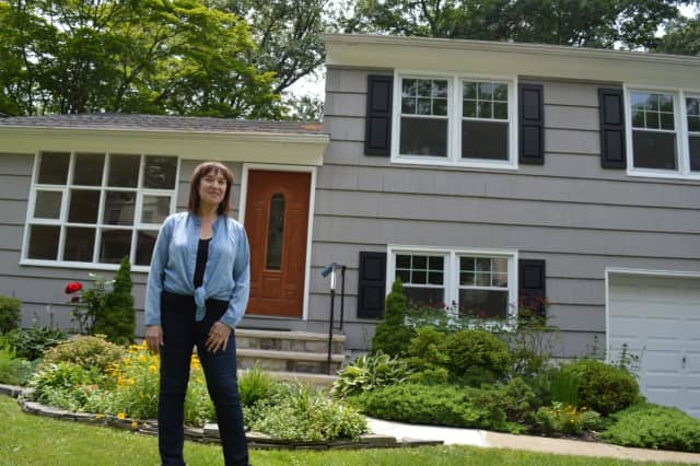 Rina Levy and her new Ridgewood home.