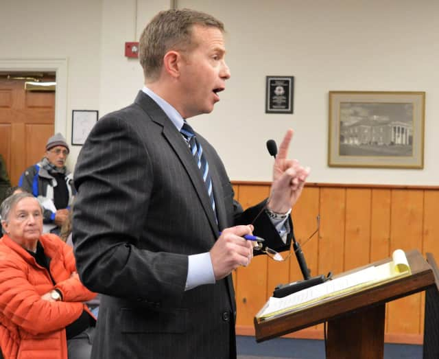 Morristown Attorney Richard De Angelis threatening the Emerson Mayor and Council with a lawsuit on Jan. 17.
