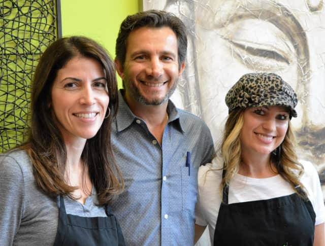 SuperJuice Nation Founders Paula Wozniak, left, Jeff Wozniak, both of North Haledon, and Amy Ratleff of Hawthorne.