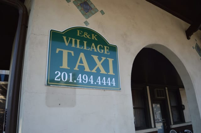 The taxi stand on North Broad Street at the Ridgewood train station.