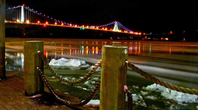 Poughkeepsie is on marketplace.com's Top 10 list of most expensive places for two parents to raise two kids. A family of four needs $92,837 just to pay basic bills. At least the city's river views, like this one of the Mid-Hudson Bridge, are free.