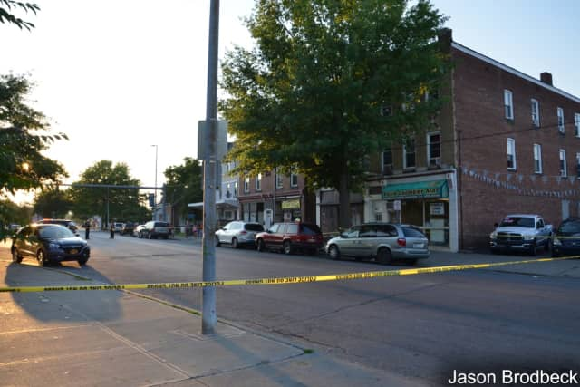 A man is in critical condition after being shot.