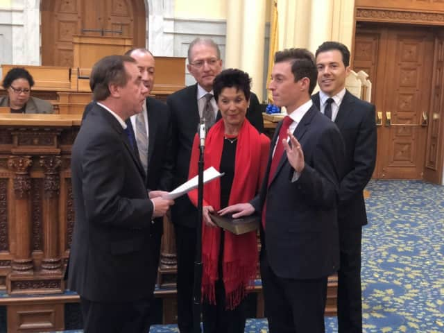 The NJ General Assembly welcomes Assemblyman Clinton Calabrese of the 36th District to the People's House.