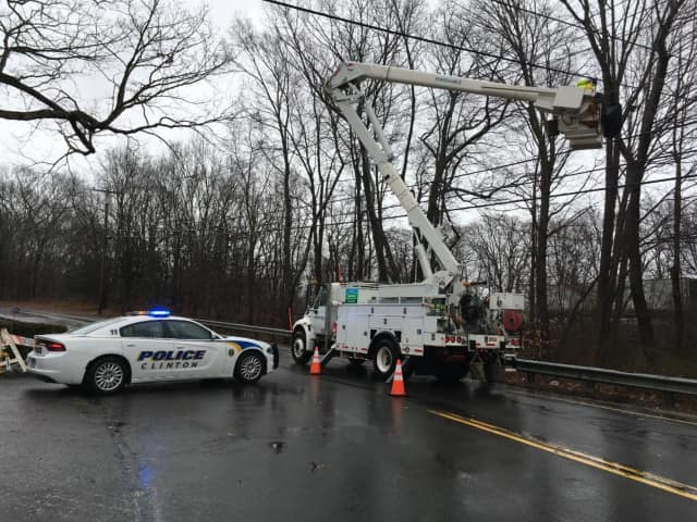 With winds whipping upwards of 40 mph and a steady stream of rain pounding the area, hundreds of Fairfield County residents are in the dark after losing power due to the storm.