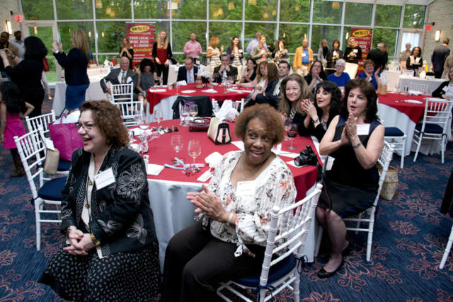 Guests enjoyed the fashion show at Dress for Success Mid-Fairfield County's Toast to Success benefit. The organization depends on benefits and inventory sales to help support its mission.