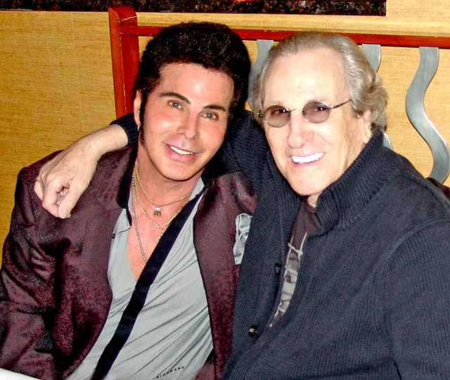"""DaVido with Danny Aiello, who covered DaVido's song """"Running Every Red Light."""""""