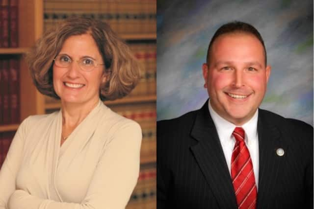 Stratford Town Council District 1 candidates Beth Daponte and Christian M. Barnaby