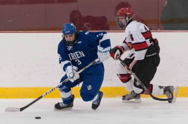 The Darien High School Blue Wave hockey team will host a fundraiser for ALS research during its home game against New Canaan on Jan. 16.