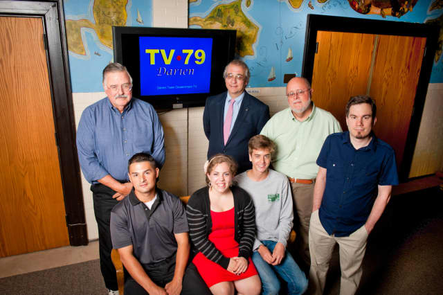 The staff of Darien TV79, which is now available online.