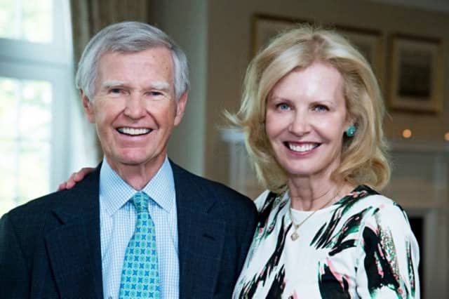 David and Lindsay Ormsby. David was recently honored for his leadership on the board of The Nathaniel Witherell.