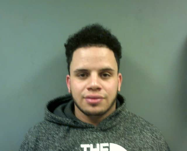 Emilio Davila of New Haven faces several charges after a wild pursuit with police that reached Trumbull and Bridgeport early Monday morning.