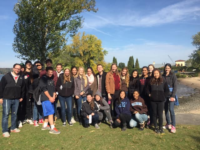 Hastings High School students took part in the Day in the Life of the Hudson River project last week.
