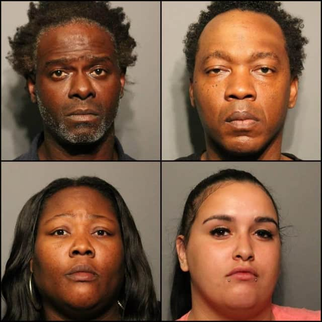 (clockwise from top left) Ashintile Clinton, 46, Staten Island resident Damon Ellis, 45 and Bronx residents Fatima Mohammed, 34 and Jasmine Luz Ramos, 23
