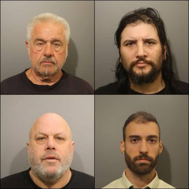 Clockwise: Edward Woodcock, Brian Kovacs, Nathaniel Andrews, Michael Waldman.