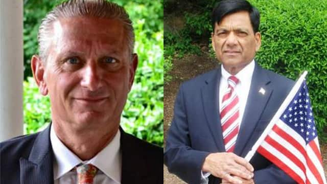 Supervisor Michael Grace is being challenged by Councilman Vishnu Patel in Yorktown.