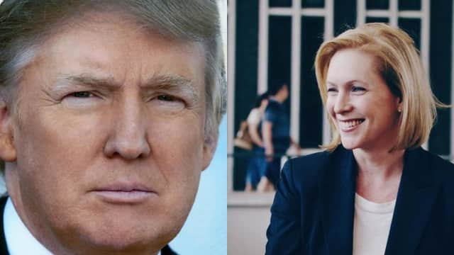 Kirsten Gillibrand called for Donald Trump's resignation in Newburgh Friday.