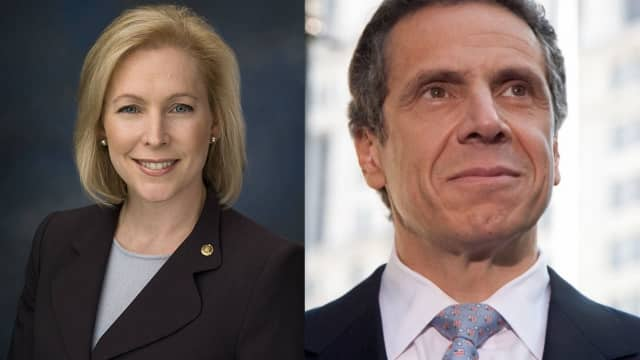 Kirsten Gillibrand and Andrew Cuomo