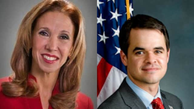 Amy Paulin and David Carlucci