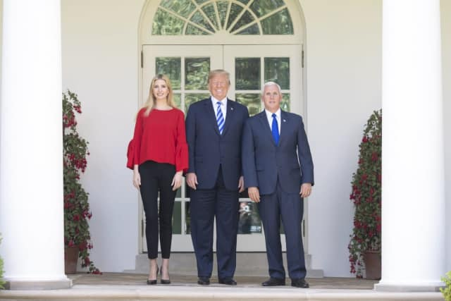 Ivanka Trump, President Donald Trump and Vice President Mike Pence.
