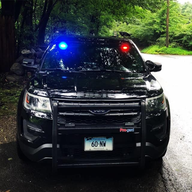 New Canaan and Norwalk police departments held a joint traffic enforcement effort.