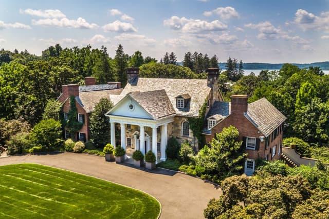 The new home purchased in Irvington by Michael Douglas and Catherine Zeta-Jones.