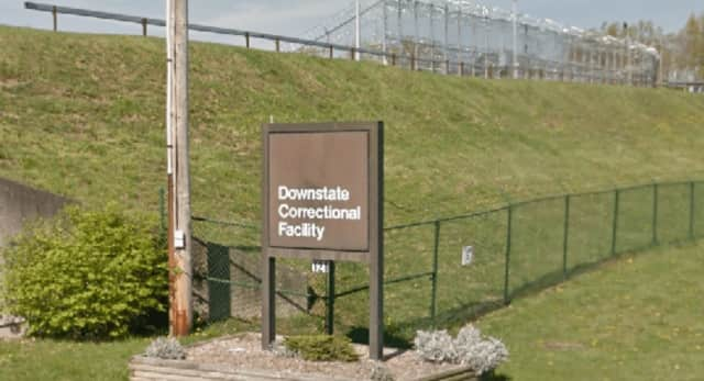 The entrance to the Downstate Correctional Facility in Fishkill.