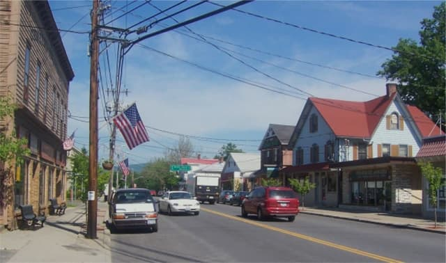 Downtown Pine Bush, New York.
