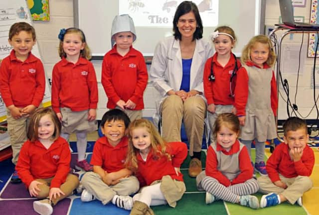 Dr. Laura Eirmann visited St. Elizabeth School recently.