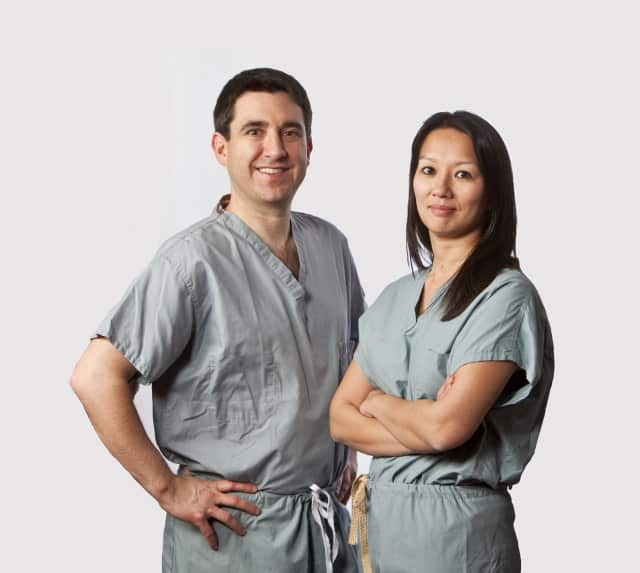 Dr. Todd Weiser and Dr. Cynthia Chin of White Plains Hospital.