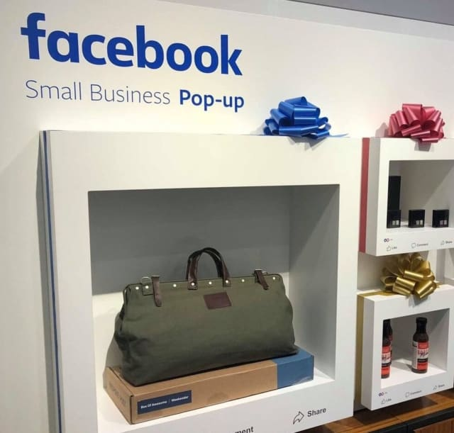 Facebook is opening up small business pop-up locations throughout the country.