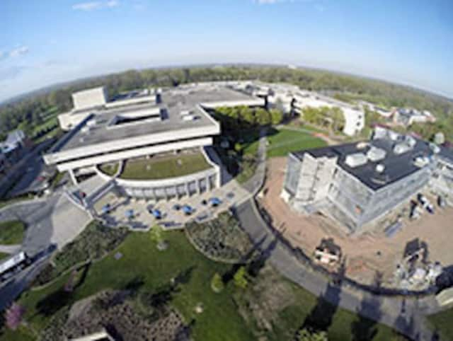 Bergen's main campus in Paramus photographed from a hobbyist's drone.