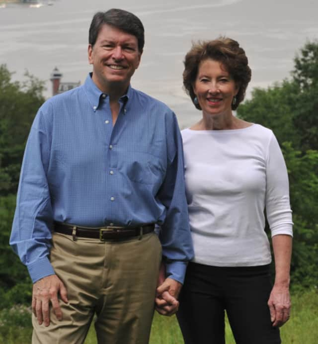 Republican congressional candidate John Faso with his wife, Mary Frances.