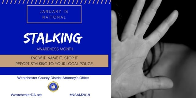 January is National  Stalking Awareness Month.