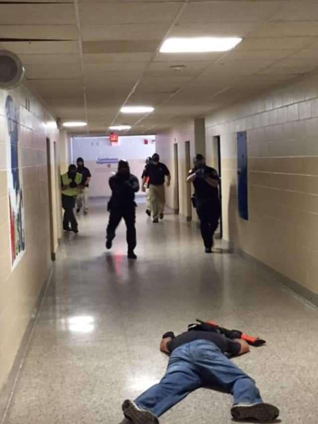 The East Fishkill Police Department and other local law enforcement conducted active shooter drills in public schools.