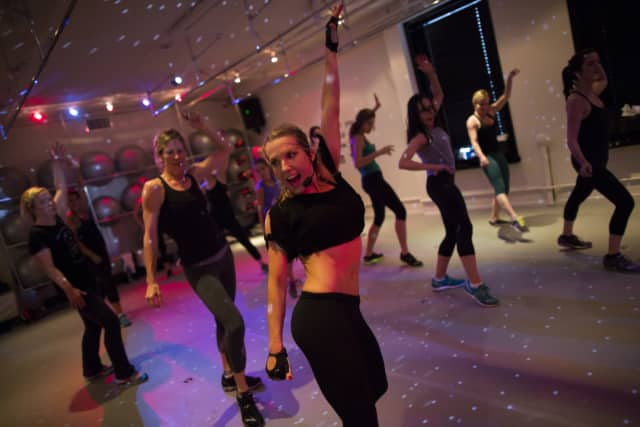 Classes at AKT Studio in New Canaan are high-energy, dance-focused workouts.