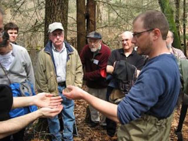 The Woodcock Nature Center in Wilton has selected Dr. Michael J. Rubbo, far right, as its new executive director.